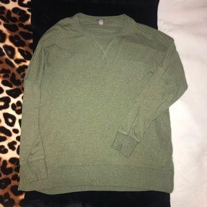 aerie green scoop next sweater